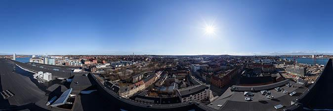 Panorama from Nordkraft, Aalborg